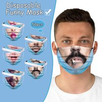 Party Masks Facial mask Funny Printing Disposable Three-layer Protective Personality Funny Meltblown Cloth Face Mask