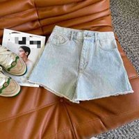 Brand Brand Loe home 2021 spring and summer new wash embroidery chinchilla co branded shorts light color wide leg pants high waist jeans
