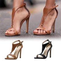 Dress Shoes Women Clip Toe Sandals Pumps Sandal Buckle Strap High Heels Female Ankle Belt Back Ladies Flip Flop Aqua Shoe