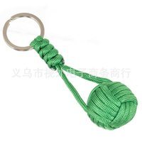 Hand-weaving monkey fist chain bracelets Outdoor mountaineering chains Braided rope forpet dog cat