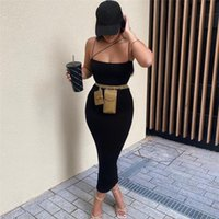Casual Dresses Sexy Black Backless Bodycon Long Women Slash Neck Party Night Club Outfits Elegant Prom Evenning Dress Autumn 2021