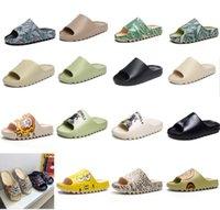 2021 top slrn slipper sandálias sandal graffiti deserto areia tripla preta branco resina west slide corrediça espuma sésamo rua padrão puro núcleo slippers mulheres mulheres
