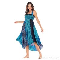 Famous designer dress spring and summer fashion sexy half-length beach vacation two wear big skirt belly dance