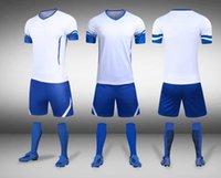 Futebol Kids Men Soccer Jerseys Set Button Treinamento Treinamento Ternos Meninos Uniformes Esportivos