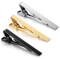 Silver Gold Black Tie Clips Business Suits Shirt Necktie Tie Bar Clasps Fashion Jewelry VS cufflinks boutons de manchette