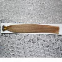 Capelli vergini brasiliani 100 g Remy Micro Beaks Ereads perline in Nano Ring Links Capelli umani Dritto 100 pezzi