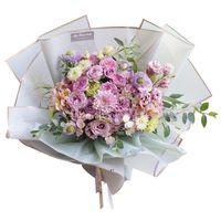 Florist Wrapping Paper 20pcs lot 58X58CM Flower Bouquet Waterproof Wrapping Supplies Wedding Valentine Flower Bouquet Gift OWD7213