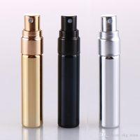 5ml UV Gold Silver Black Perfume Atomizer Empty Travel Bottle Parfum Women Pocket Spray Refillable Glass Bottles