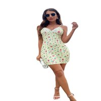 Sexy floral suspender print dress cocktail women's dress high quality fashion sexy suspender Jumpsuit skirt comfortable tight daily travel office Night Party Club