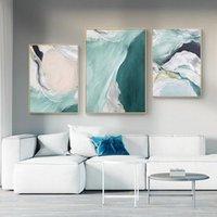 Pinturas Abstracto Pared Cartel Simple Modern Lienzo Impresión Verde Textured Pintura Al óleo Arte Contemporáneo Decoración de la sala de estar