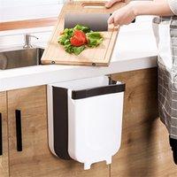 9L Настенные складные отходы Bin кухонный шкаф дверь висит мусорное ведро для мусора мусорное ведро для ванной комнаты для ванной комнаты