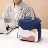 Storage Bags Canvas Thicken Tin Foil Lunch Bag For Women Men Kids Work School Camping Picnic TS3 Perfect Carrying Or Dinner