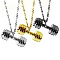 necklace Jewelry fashion fitness dumbbell Nelace Star Pendant steel men's and women's jewelry n464