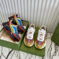 2021 дизайнерские туфли ритона кроссовки бежевых мужчин старинные роскоши преодоленные дамы с коробкой размером 35-45