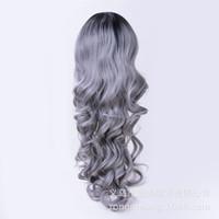 2021 Nouveaux perruques européennes et américaines à la mode Dames Ancienne dentelle Fibre chimique Perruque Matt High Temperature Silk Wigque