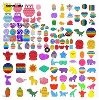 I giocattoli di fidget spingonolo bolle antistress giocattoli anti-stress morbido regali sensoriali riutilizzabili spremere giocattoli giocattoli regali stress stress reliever board giochi fy10