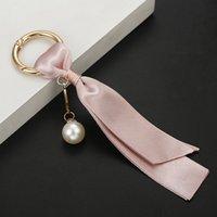 Mode fait à la main Femme Sac Bijoux Pendentif Pendentif Voiture Porte-clés Perles Détachables Coréen Ruban Coréen Bricolage Accessoires Soie Keychain Cadeau