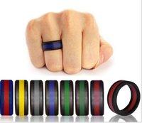 Silikon Ehering Flexible Silikon-Hochzeit Komfortables Fit Leichte Ring für Männer Multicolor Komfortables Design PS1708