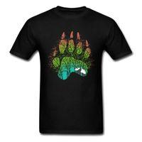 CCCCSPORTWHITE PANDA TSHIRT BEALS PAW Лесная тень мужские смешные футболки Kong FU 100% хлопок мода тенденции новая футболка 2018