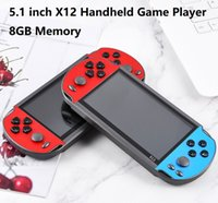 X12 Handheld Game Player 8GB Memory Portable Video Game Consoles 5.1 inch Color Screen Display Support TF Card 32gb MP3 MP4 MP5 Player