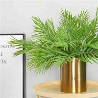 Yapay Yeşil Bitki Çiçekler, 15-Petal Muz Yaprakları, Düğün Arka Plan Duvar Çiçek Düzenleme, Ev Vazo Dekorasyon Çiçekler