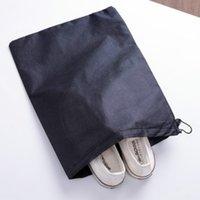 أكياس التخزين غير المنسوجة غطاء الأحذية القابلة لإعادة الاستخدام مع الرباط حالة تنفس الغبار برهان أشتات حزمة أداة المنزل GWD6488