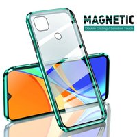 360 Magnetic Adsorption Metal Case For Xiaomi Redmi Note 10 9 8 7 Pro 8T 9A 9C For Xiaomi 11 10 10T X3 Double-Sided Glass Cover