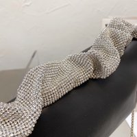 Mujer de alta gama de lujo diseño de cristal brillante bolsas de banquete bolsas de embrague princesa estilo delicado hombro paquete de mano bolso de alta calidad