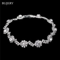 Bracelete de forma de onda para mulheres cor de prata cristal link braceletes pulseira dama de honra nupcial jóias de jóias link, cadeia