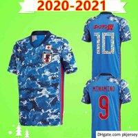 2020 2021 Japão Jersey Jersey Home Azul 20 21 Camisetas de Fútbol Equipe Nacional Kagawa Honda Nagatomo Okazaki Atom Kubo Camisa de Futebol Uniformes