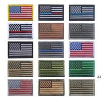 US Bandiera tattica patch militari militari Bordo d'oro Bandiera americana Bandiera americana sui patch Applique Jeans Tessuto Adesivo Tessuto Patch Cappello Distintivi HWB7722