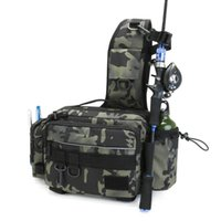 Stuff Sacks Fishing Tackle Bags Outdoor Single Shoulder Crossbody Tactical Utility Storage Package Lures Gear Waist Pack