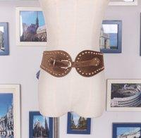 Personalisierter niet frauen gürtel unregelmäßiger hirsch samt lose enge gürtel taille schnalle mit gürtel taille mit hemd dress retro stil
