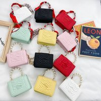 Bolsos de lujo para niñas Moda para niños Pearl One Bolsos Bolsos Mini monedero Niños lindos Seda Bufanda Pirncess Messenger Bag F123