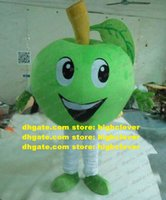 Naughty Green Apple Granny Smith Be Delicious Mascot Costume Adult Eyes Naughtyly Mouth Still Little Crooked Look Lovely ZZ3784