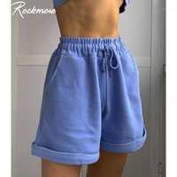 Rockmore Plus Size Kordelzug Sweat Shorts Frauen Solide Harajuku Koreanische Taschen Streetwear Sweatshorts Casual Short Shorts Ladies1