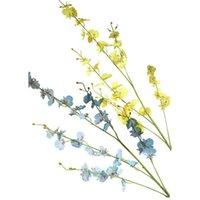 Branches fleurs artificielles papillon orchidée fausse danse pour la maison jardin de mariage festival de mariage décor de la guirlande décorative