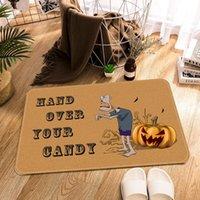 Carpets Home Halloween Party Cartoon Print Door Mat Bathroom Non-Slip Bath Pumpkin Bedroom Kitchen Carpet Floor Welcome Rug Deco