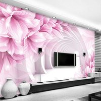 Sfondi personalizzati PO Wallpaper 3D Stereoscopic Space Space Pattern di fiori Soggiorno TV Sfondo Sfondo decorativo murale Panno muro Papel de Parede
