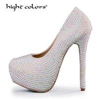 Frühling 2021 Frauen Stiletto High Heel Pumps Slip auf sexy Schuhe Wasserdichte Qualität Hochzeitskleid