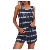 Women's Tracksuits Vest Pajama Set Sleeveless Fashion Causal Pyjamas Sleep Shorts Summer Pijama Suit Sleepwear Women Sexy Nighties Traf #T1