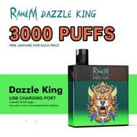 R and M Dazzle King Disposable E Cigarette 3000Puffs Coloful LED Light RandM Vape Pen