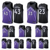 Jersey de basketball 2021TorontoRapacesHommes Pascal Siakam Fred Vanvleet Kyle Lower Edition Violet # 43