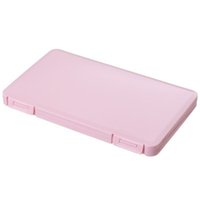 Face Mask Folder Storage Case Mouth Mask Clip Storager Solid Color Plastic Dust Proof Moisture-proof Folding Protective Organizer DH4900