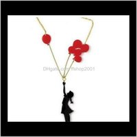 Necklaces & Pendants Jewelry Fashion Acrylic Cute Playing Pendant For Children Girl Jewelry Personality Air Balloon Necklace Drop Delivery 20