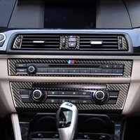 Car Stickers For BMW F10 F18 5 Series Carbon Fiber Strip Air Conditioning CD Panel Decorative Cover Trim Auto Accessories Styling