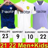 21 22 ليدز كرة القدم جيرسي يونايتد 2021 2022 ر روبرتس هيرنانديز هاريسون بامفورد كوستا الأيوسكي كلارك فيليبس كرة القدم قميص الرجال أطقم الأطفال