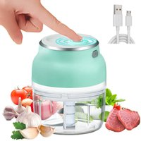 Electric Food Chopper Rechargeable Wireless Garlic with Blade Mini Meat Grinder Tools Portable Kitchen Accessories