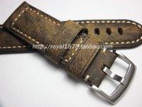 Watch Bands Crazy Horse Skin Straps Vintage Genuine Leather Watchband Calfskin 20 21 22 24 26mm Brown Stainless Bracelet