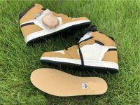 Мужчины 1S коричневые белые черные спортивные кроссовки высокого качества Новый 1 высокий og новичок года баскетбол обувь